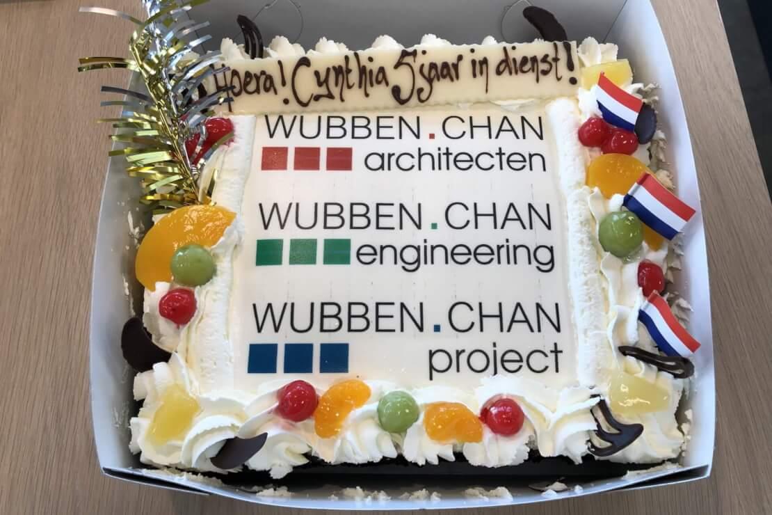Cynthia 5 jaar in dienst jubileum Wubben.Chan architecten