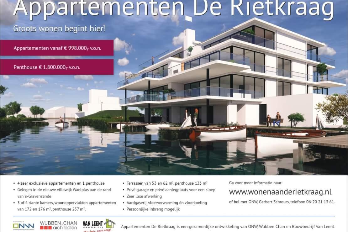 20200608 advertentie Rietkraag appartementen Wubben.Chan architecten