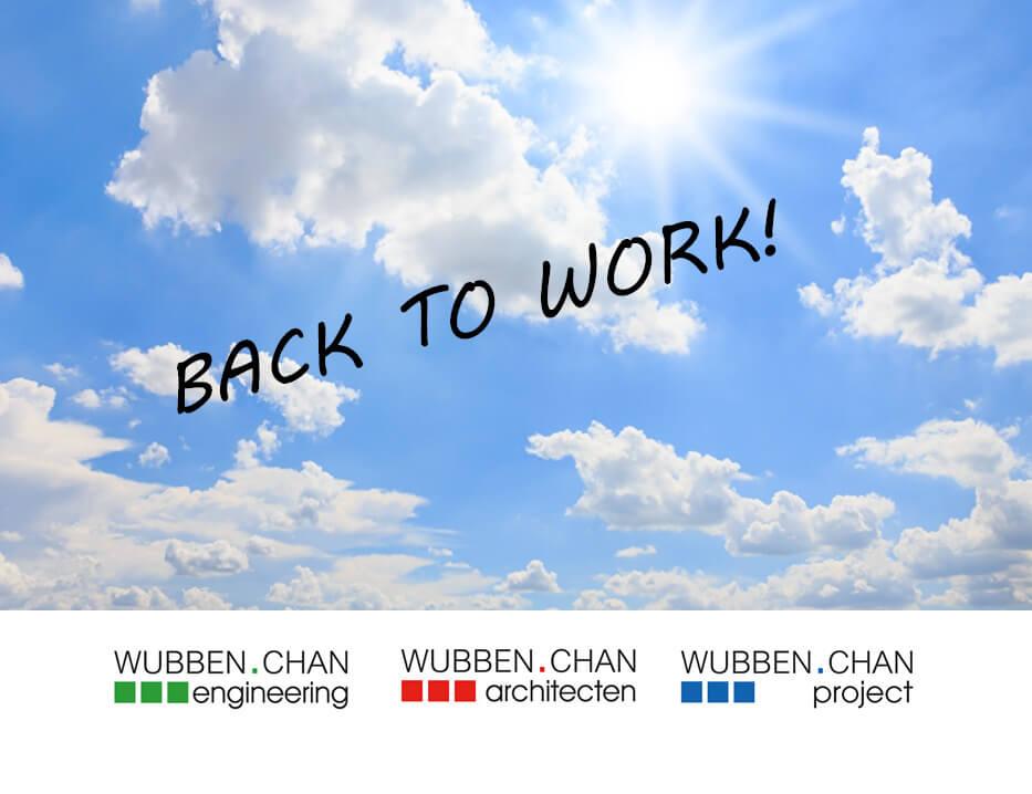Back tot work na bouwvak Wubben.Chan nieuws2