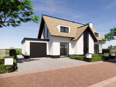 A Vrijstaande villa woning IJsselmaere Wubben.Chan architecten Large