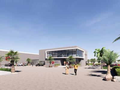 C Kassencomplex met bedrijfsruimte Wubben.Chan architecten
