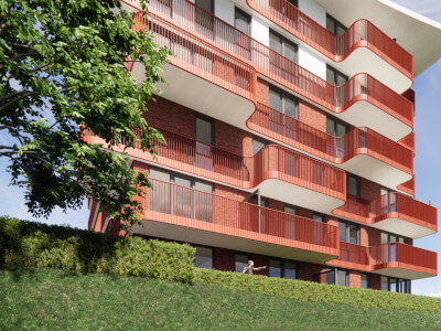 B Parkzoom gewonnen aanbesteding appartementencomplex Wubben.Chan architecten
