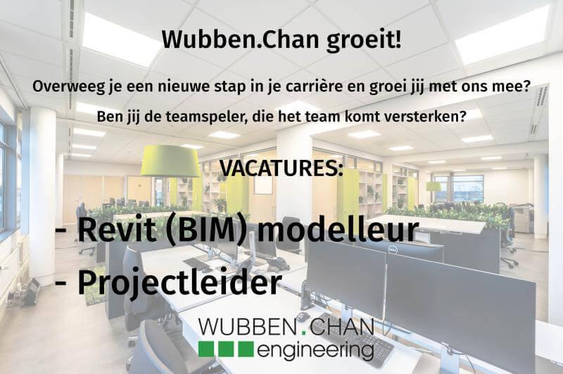 Vacature BIM revit modelleur projectleider Wubben.Chan engineering