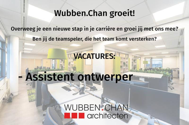 20200625 Vacature ontwerper Wubben.Chan architecten